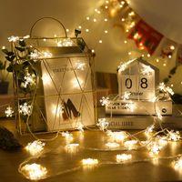 Christmas Decorations for Home New Year 2020 Snowflake 1M 3M Lights String Wedding Christmas Tree Decorations Navidad Natal.Q