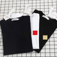 남성의 경우 2020 새로운 여름 패션 디자이너 T 셔츠는 고급 문자 자수 T 셔츠 남성 여성 의류 짧은 소매 티셔츠 남성 티셔츠 탑
