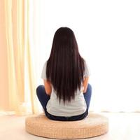 40 cm Mano tejida Puf Tatami de tatami almohada de almohadilla de almohadilla Meditación de la paja de engrosamiento de la alfombrilla de yoga suave LJ201218