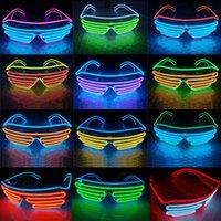 Fête LED Verres Fil Fluorescent Flash Verre Fenêtre Nouvel An Pâques Demande d'anniversaire Bar Bar Décoratif Lumineux Bar Lunettes Rre3410