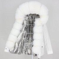Oftbuy 2020 реальный меховой валик водоустойчивый парку натуральный енот воротник капот зимняя куртка женщины верхняя одежда съемный1