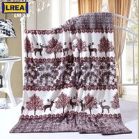 LREA High quality Forest fawn printing coral fleece blanket ...