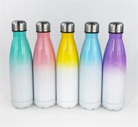 Colorful sublimazione 17oz cola bottiglia in acciaio inox bottiglia d'acqua doppia parete colata cola isolante tumbler Best per personalizzare