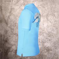 Camisa bordada dos homens Camisa de manga curta de manga curta da estação de verão Phillip Plain Pese Pesado Drill Dolphin Slim Fit T-shirt