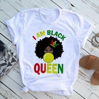 I Am A Strong Melanin Queen T Shirt Women Tops summer Clothe...