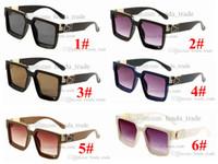 Moda Designer Square Sunglasses Mulheres Gradiente Promoção Verão Estilo Clássico Mulheres Sun Óculos Female Big Square Eyewear 6 Cores 10pcs