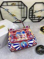 핸드백 919 여성 Deigner 가방 최신 디자이너 핸드백 새로운 클래식 OL 가방 크로스 바디 가방 레트로 패턴 25x20x12cm