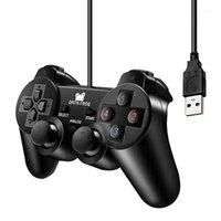 تحكم اللعبة المقود بيانات ضفدع الاهتزاز المقود السلكية USB تحكم الكمبيوتر المحمول لكمبيوتر محمول WinXP / WIN7 / WIN8 / WIN10 فيستا لعبة سوداء