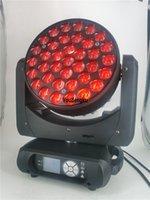 4pcs Testa mobile DMX Zoom Wash Lyre LED 37x12W RGBW 4in1 Zoom Blowerhead Stage LED Super Fascio Luce per Evento Party club matrimonio