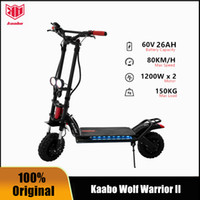 "Original Kaabo Wolf Warrior II 60V 26AH LG Batería Smart Electric Kick Scooter 11 ""Dual Motor Hoverboard Hoverboard Dos ruedas Skateboard plegable"