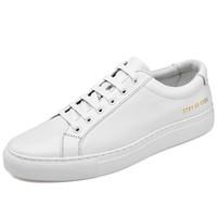 Skórzane białe męskie buty jesień casual koreański styl trend all-mecz szykowny buty deski męskie dorywczo modne buty