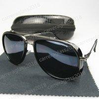 Moda Nova Luxo Homens Feminina Feminina Retro Sunglasses Óculos À Prova De Metal Designer Vintage Vidros C38
