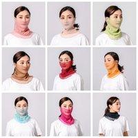 İpek Atkılar Güneş Kremi Yüz Maskesi Yaz Bayanlar Maskeleri Sürme Yüz Kapak Toz Geçirmez Kafa Wrap Boyun Yaka Katı Bandanalar Türban ZZC3470