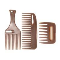 Haarbürsten Breite Zähne Haarbürste Gabel Kamm Männer Bart Friseurbürste Barber Shop Styling Werkzeug Salon Zubehör Afro Frisur