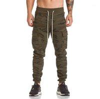 Pantalon pour hommes Binhiiro 2021 Camo Hommes Armée Automne Big Poche Joggers Joggers Pantalon en coton Confortable Tactique 21