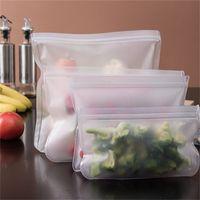 Saco de armazenamento de alimentos Selo para cima transparente casa frigorífico Eva fresco sacos de vazamento à prova de frutas legumes bolsa reutilizável 3bc g2