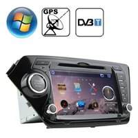 Reproductor de DVD del automóvil de Windows CE de la pantalla de Windows CE de 80 pulgadas de Rungrace para KIA K2 con GPS Bluetooth RDS DVB-T