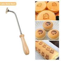 3 cm-personalizado logo sello de cuero cobre latón papel de madera pan pastel pastel troquelado corazza molde letra metal sello marca hierro piel piel