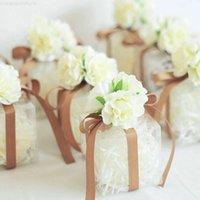 Geschenk Hochzeit Candy Gunst Boxen Paket Valentinstag Kuchen Transprent Plastic Box Festliche Partei liefert