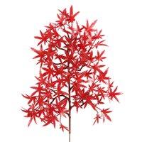 نابض بالحياة الزهور القيقب يترك ديكور المنزل رذاذ اللون سلسلة بونساي زهرة بيع جيدا مع الأحمر الخريف ريدز اللون 4 2WX J1