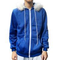 남성용 재킷 남성 및 코트 남성 여성 코스프레 블루 플리스 후드 재킷 스웨터 의상 따뜻한 스포츠 코트 가을