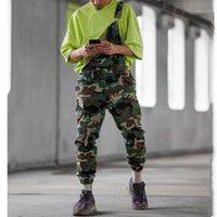 Jeans homens 2020 novo camuflagem cinta calças macacões homens tamanho grande calças casuais mais tamanho s-xxl xxxl1