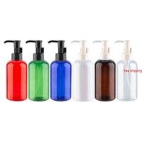 220ml x 12 bouteilles de pompe à huile pour savon liquide douche gel rond cosmétiques plastique cosmétiques produits de soins personnels Voyage packingBest Qualtit