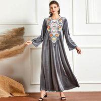 Plus Size Abaya Dubai Turchia Abito hijab musulmano Islam Abiti turchi per abbigliamento da donna Abbigliamento Robe Musulman Femme Ropa Mujer Vestidos1