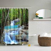 Занавески для душа 2021 сцена версия Multi-Styles 3D HD цифровой печатный водонепроницаемый влагостойкий чехол для ванной комнаты Tende1