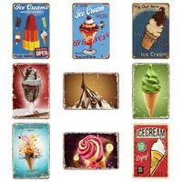 Metal Teneke Retro Duvar Plaque Burcu Sanat Sticker Demir Boyama Dondurma Ev Dekorasyon Pub İşaretleri Duvarlar Dekor Destek Özelleştirilmiş LLS206-WLL