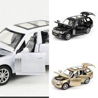 1:32 RANGE ROVER SUV simulação de brinquedo modelo de carro liga de liga para trás crianças brinquedos coleção presente off-road kids 6 abrir a porta y1201