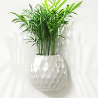 الإبداعية الأبيض السيراميك جدار زهرية في الهواء الطلق الزراعة الزراعة النباتات شنقا زهرة وعاء داخلي جدار الغراس المنزل غرفة المعيشة وعاء عصاري Y200709