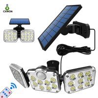 Solar Wall Lights Rotatable Dual Heads Solar Home Lights wit...