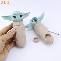 """Neues design 4.70 """"Mini Wasserleitungen Baby Hand Pfeife Glasbongs mit Glasschüssel Silikon Raucherpfeifen für Raucher Tabak 420"""