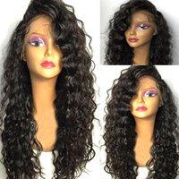 Черные длинные вьющиеся кружевные парики с детскими волосами для женщин вьющиеся вьющиеся волосы синтетические фронтские парики для волос. Теплостойкое волокно