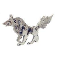 Surwish DIY montar modelo kit 3d aço inoxidável assemblydetachable lobo selvagem modelo puzzle casa escritório mesa ornamentos presente y200421