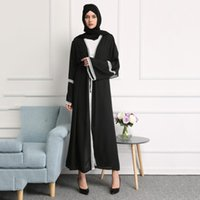 Wechery Zarif Açık Abaya Bayan Dantel Pürüzsüz Giydirme Siyah Dantel Dikiş Nakış Hırka Elbiseler Uzun Elbise 4.41
