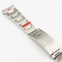 20mm 904L Paslanmaz Çelik Kordon Saati için Fit Rol-X Submariner Gümüş Özel Arc End Bilek Kayışı Bilezik Erkekler Kelebek Toka