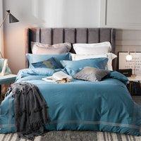 Juego de ropa de cama Lijado de algodón para el hogar Pastel Ropa de cama Cubierta de edredón cepillado Conjuntos de cama de lecho de cama plana de alta calidad Hojas ajustadas T200706