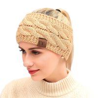 2021 дизайн Painpin оголовье Красочное вязаное вязаное вязание крючком твист волос зима уха теплые эластичные волосы аксессуары