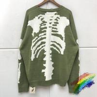 2020FW Impressão Inverno Sweater Homens Mulheres Crewneck verdes capuz Vintage danos Buraco Knit Pullovers