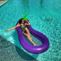 Summer Piscine Floating Gonflable Aubergine Matelas Natation Bague Circle Island Cool Eau Party Toy Boia Piscina Childr J1210