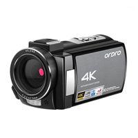 Ordle AE8 Caméra vidéo Caméscope 4K Caméra vidéo numérique Caméra 3.0 IPS Vision nocturne infrarouge HD Full HD avec microphone1
