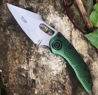 Stitch I Green Black 9CR18MOV Apertura horizontal Acción única Automático auto defensa automática Plegable Cuchillo EDC Cuchillo Cuchillos de caza