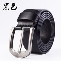 Hot Style Men's Belt Buckle Leather Men's Belt Pure Cowhide Youth Antique Belt High Quality Leisure Quality Soft Belts 20121411DQ