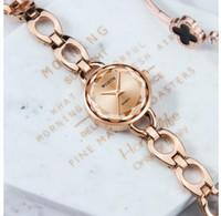 Luxe Wlisth Marque Montres Petite Rose Gold Bracelet En Acier Inoxydable Dames Quartz Montres Montres Mode Casual Femmes Robe Montre