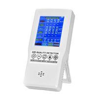 Purificadores de ar Monitor de qualidade Preciso testador para CO2 Formaldeído (HCHO) TVOC PM2.5 / PM10 Profissional Detector multifuncional de gás multifuncional