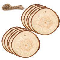 Деревянные круги Рождественские украшения DIY натуральные круглые деревянные фигуры ремесло дерево пустые кусочки лесорусного диска деревянные блюд моря DDC4774