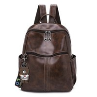 Casual Large Capacity Women Backpack PU Leather Backpack Sch...