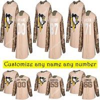 Camo Veterans Day Pratical Pittsburgh Penguins Jerseys 87 Sidney Crosby 17 ferrugem 13 Tanev Lemieux Personalize qualquer número de nomes de hóquei jersey